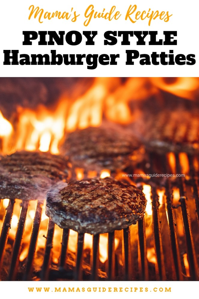 Pinoy Style Hamburger Patties