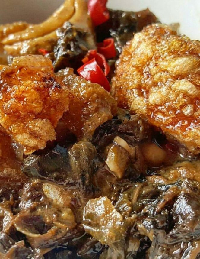 Spicy Laing with Bagnet Recipe
