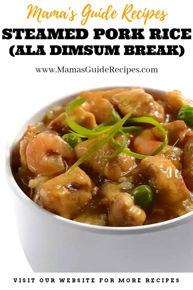 Steamed Pork Rice (Ala Dimsum Break)