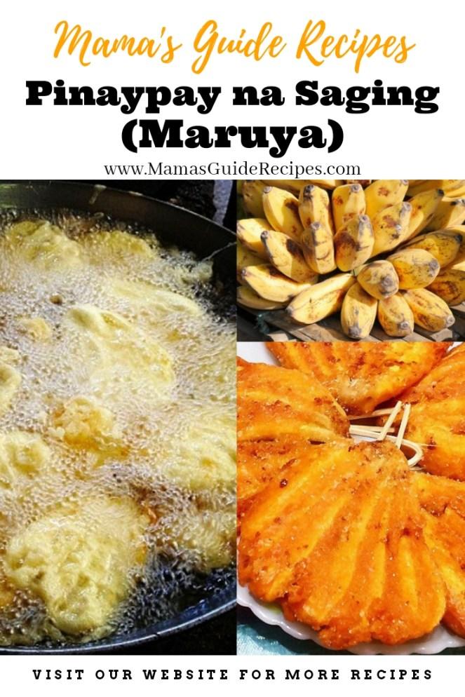 Pinaypay na Saging (Maruya)