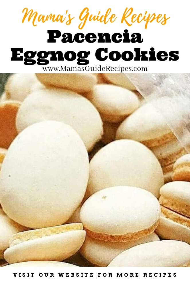 Pacencia/ Eggnog Cookies