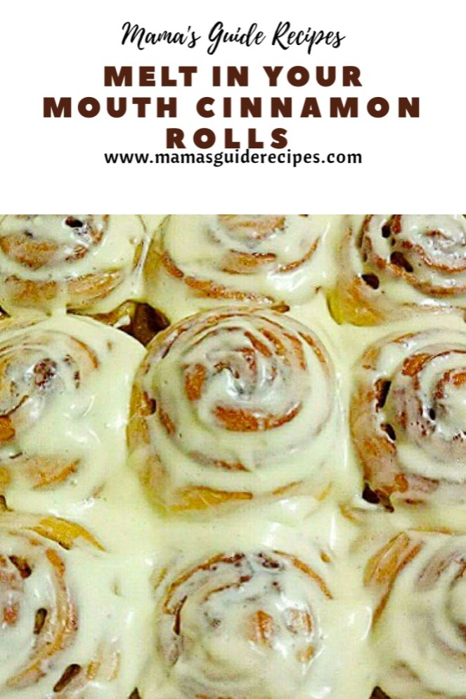 Melt in Your Mouth Cinnamon Rolls