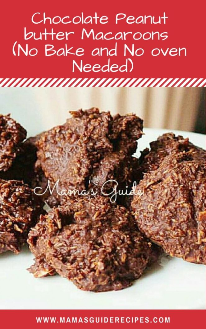 Chocolate Peanut butter Macaroons  (No Bake and No oven Needed)