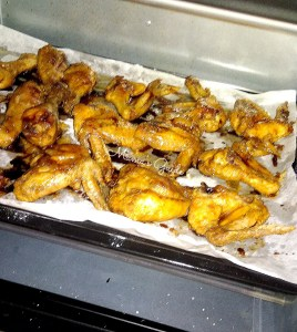 Coat the wings with Honey BBQ Sauce and bake it again. Set aside the sauce for glazing later.