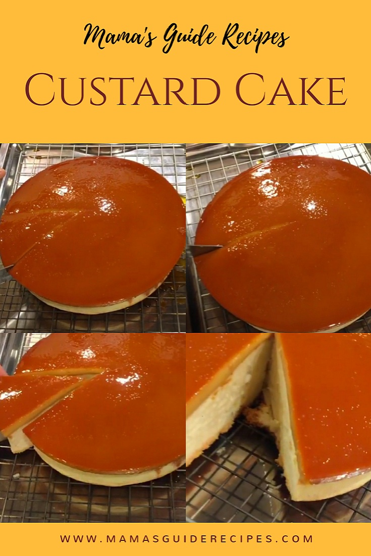 CUSTARD CAKE, leche flan cake, flan cake