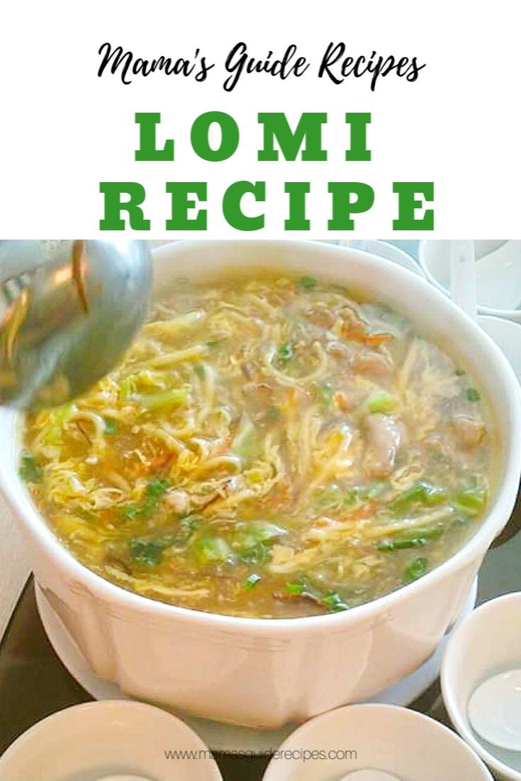 Lomi Recipe