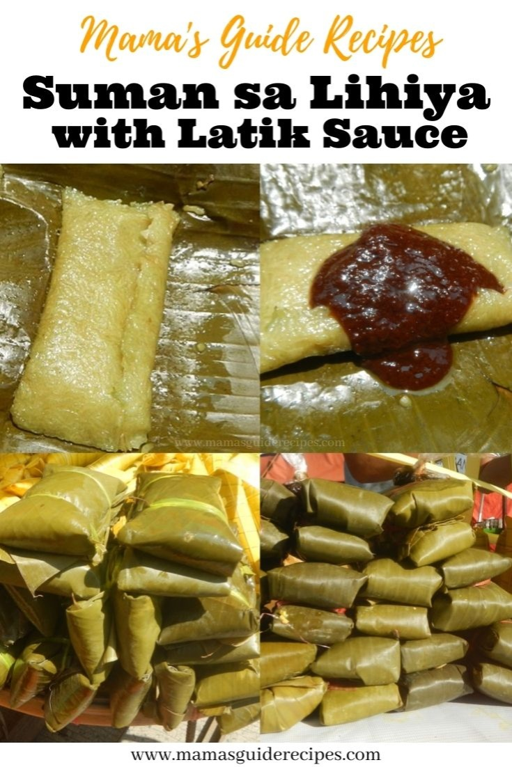 Suman sa Lihiya with Latik