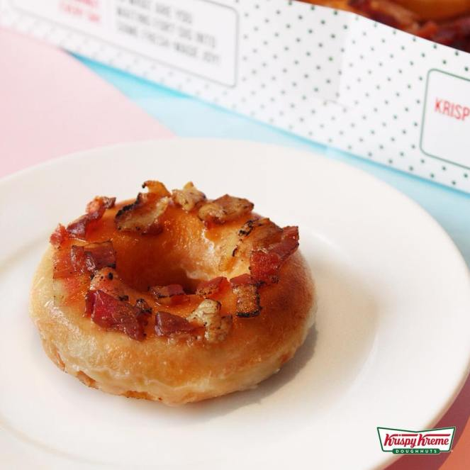 Bacon and Cheese Doughnut - Krispy Kreme