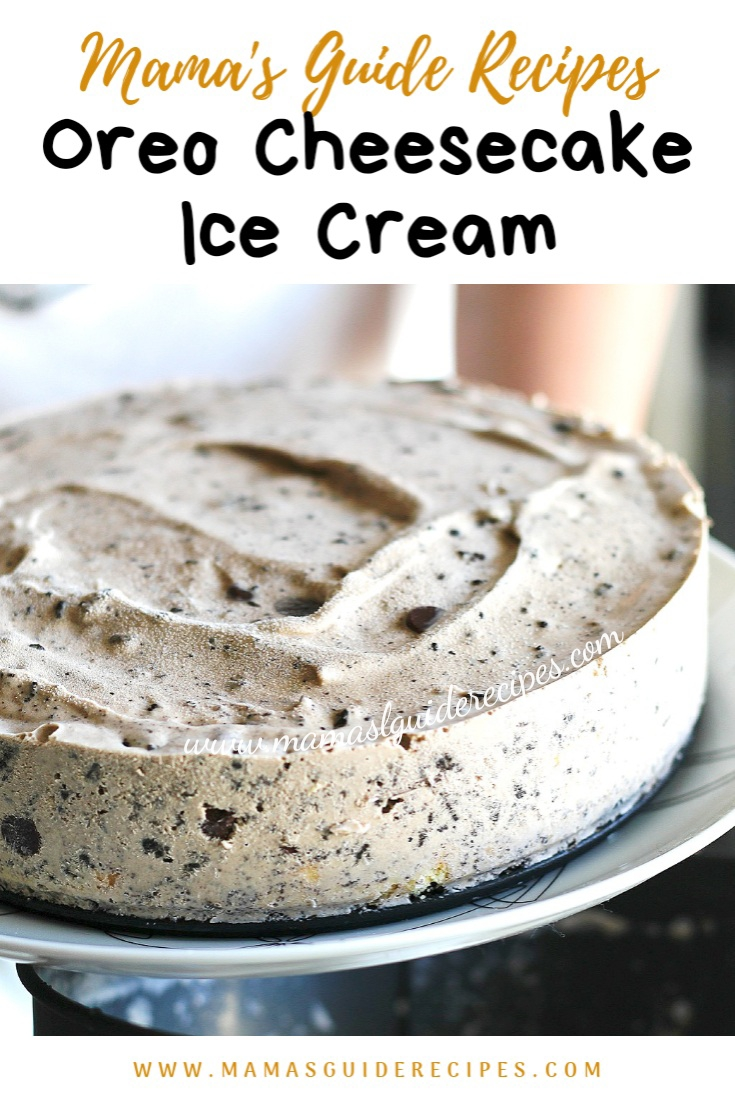 OREO CHEESECAKE ICE CREAM