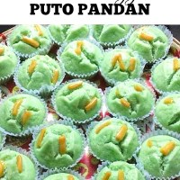 Steamed Eggless Puto Pandan