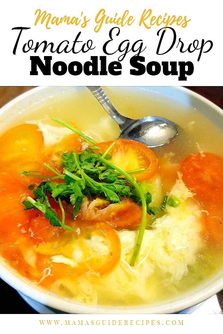 Tomato Egg Drop Noodle Soup
