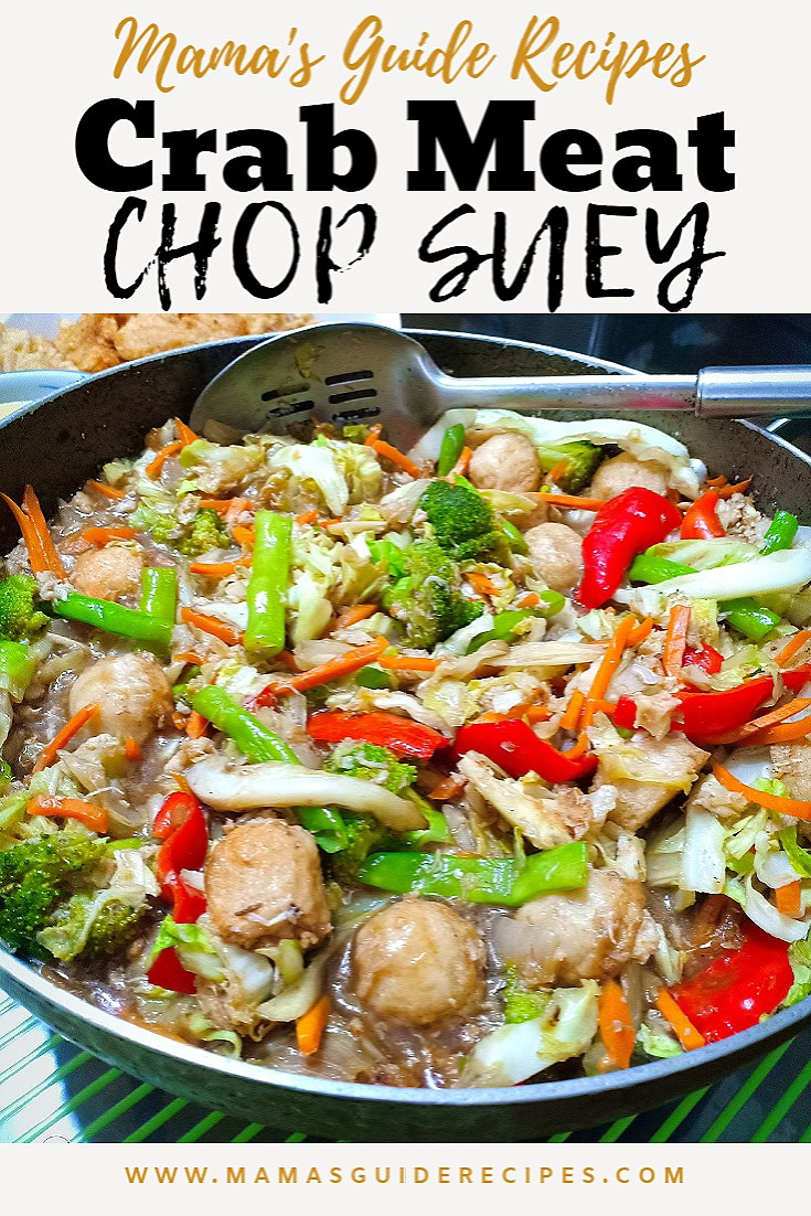 CRAB MEAT CHOP SUEY
