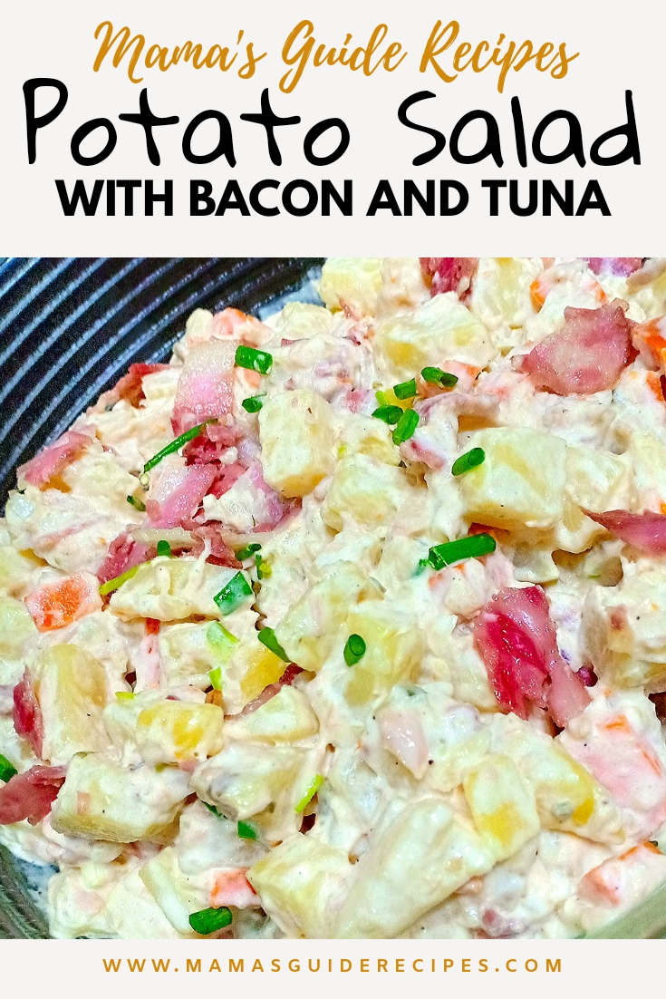 POTATO SALAD WITH TUNA AND BACON
