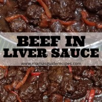 BEEF IN LIVER SAUCE