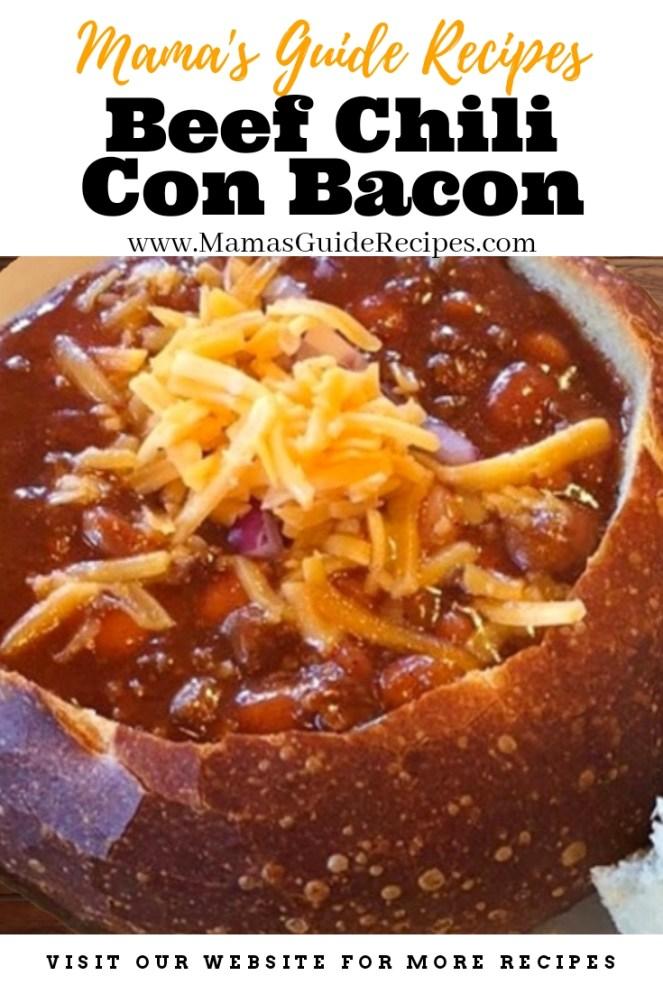 Beef Chili Con Bacon