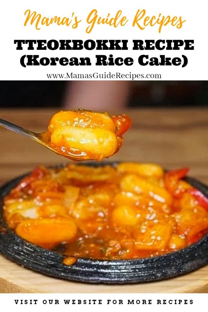 Tteokbokki Recipe (Korean Rice Cake)