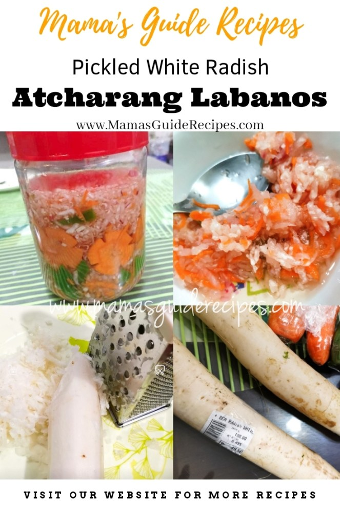 Pickled White Radish (Atcharang Labanos)