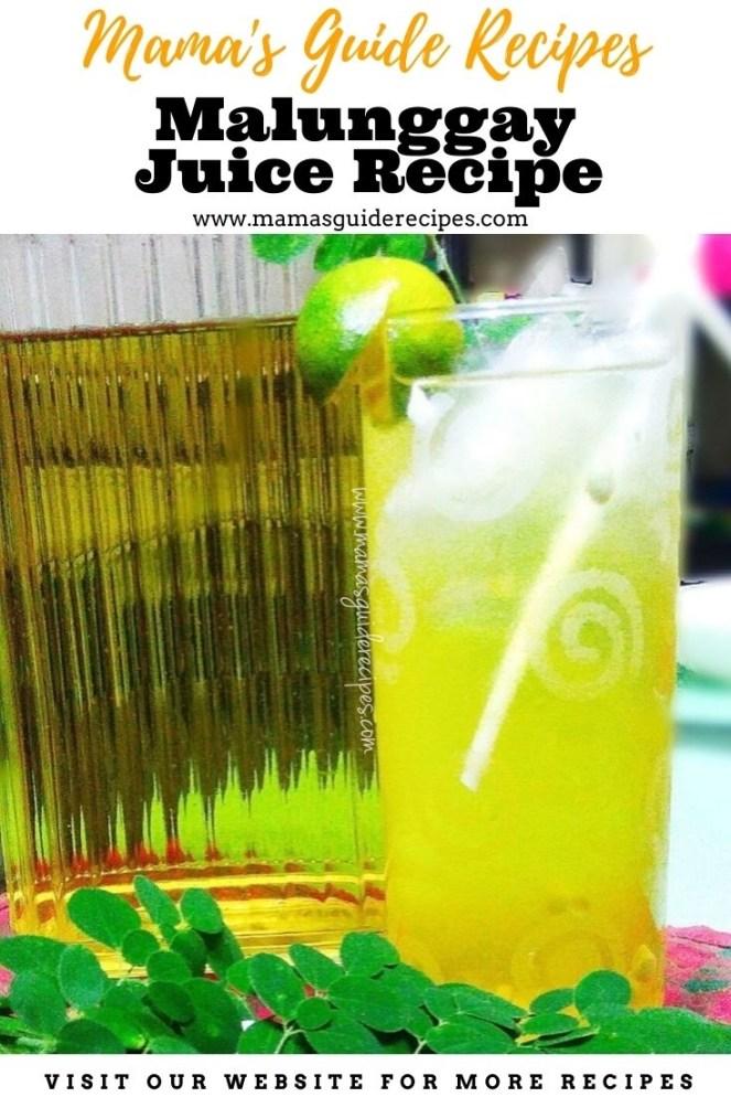 Malunggay Juice Recipe