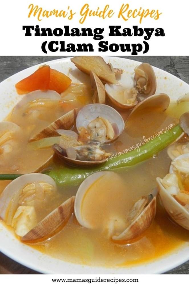 Tinolang Kabya (Clam Soup)
