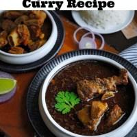 Black Mutton Curry Recipe