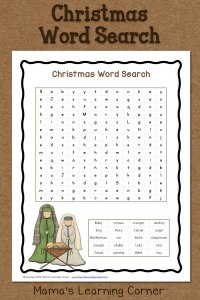 Christmas Word Search: Free Printable