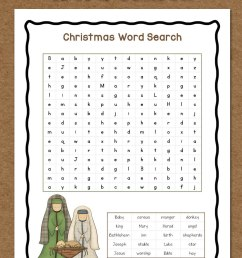 Christmas Word Search: Free Printable - Mamas Learning Corner [ 1500 x 1000 Pixel ]