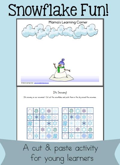 Snowflake Fun Scissor Skills