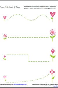 Scissor Skills: Hearts & Flowers