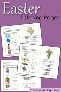 Easter Listening Pages for Non-Readers