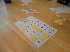 picture relating to Addition Bingo Printable named Printable Addition Bingo - Mamas Discovering Corner