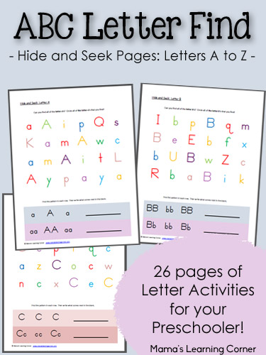 abc hide and seek letter find for preschoolers mamas learning corner. Black Bedroom Furniture Sets. Home Design Ideas