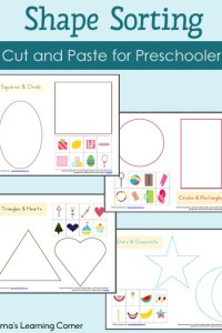 Shape Sorting Worksheet Packet