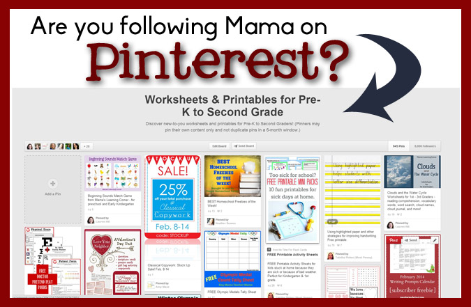 Worksheets & Printables for Pre-K to Second Grade Pinterest Board