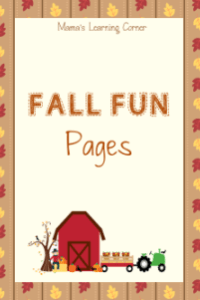 Fall Fun Pages Blow-Out Sale: only $0.75!