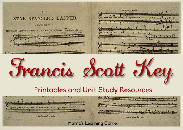 Free Printables For Francis Scott Key Unit Study Mamas