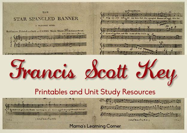 Free Francis Scott Key Printables and Unit Study Resources