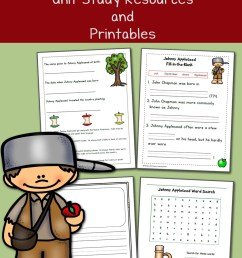 Johnny Appleseed Printables and Unit Study Resources - Mamas Learning Corner [ 1500 x 1000 Pixel ]