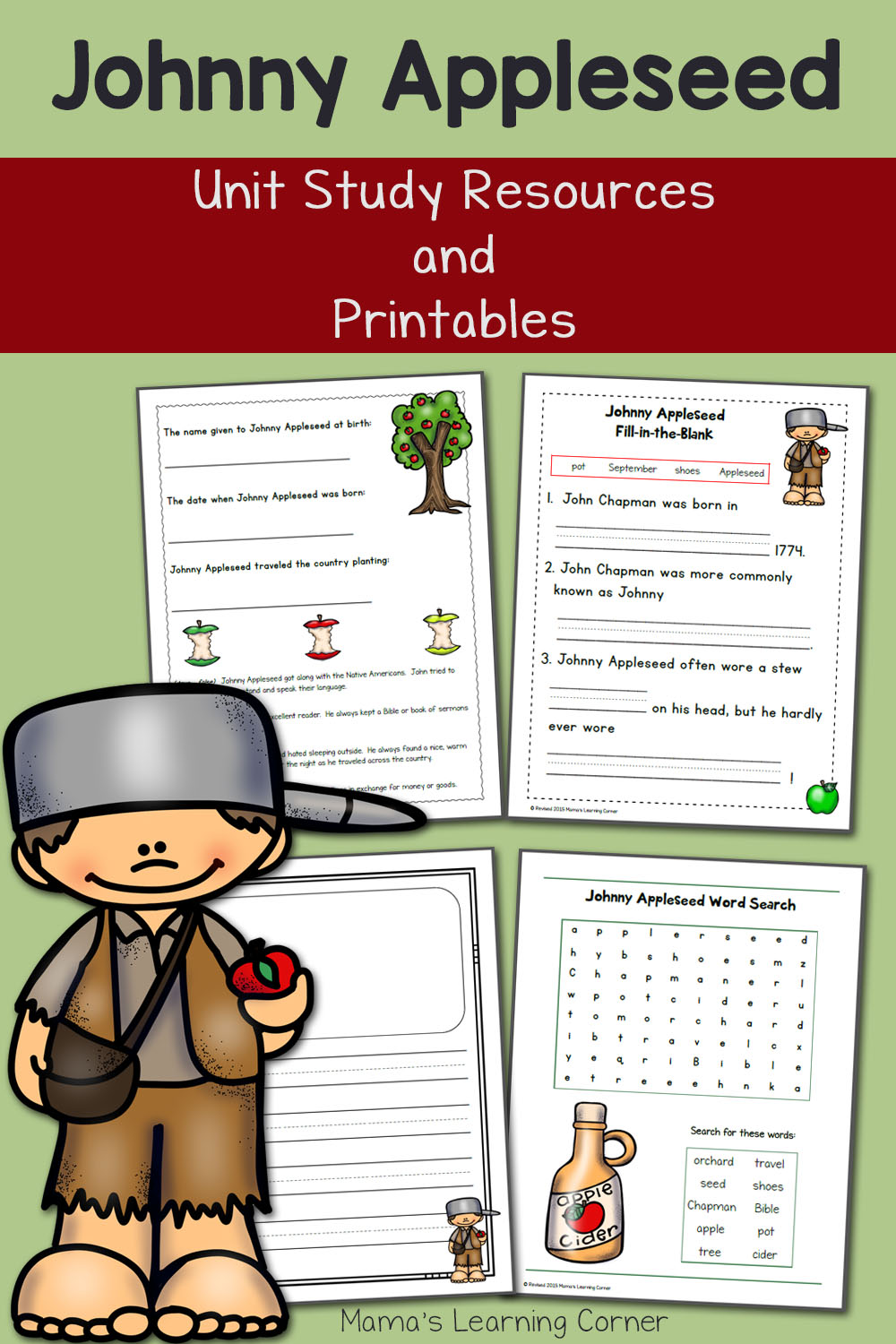medium resolution of Johnny Appleseed Printables and Unit Study Resources - Mamas Learning Corner