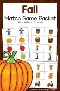 Printable Fall Match Game