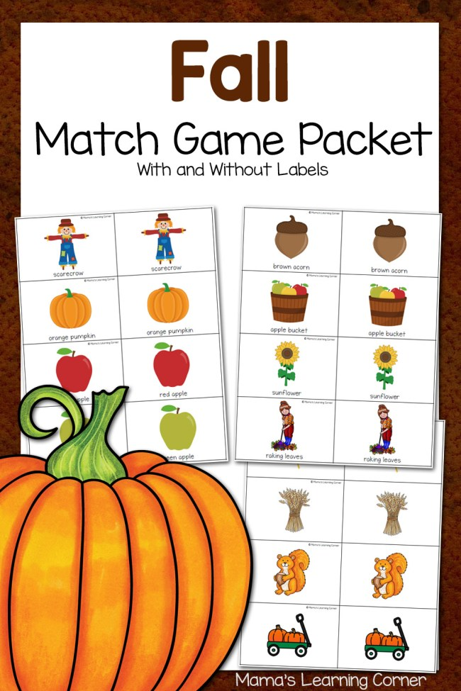 Fall Match Game Packet