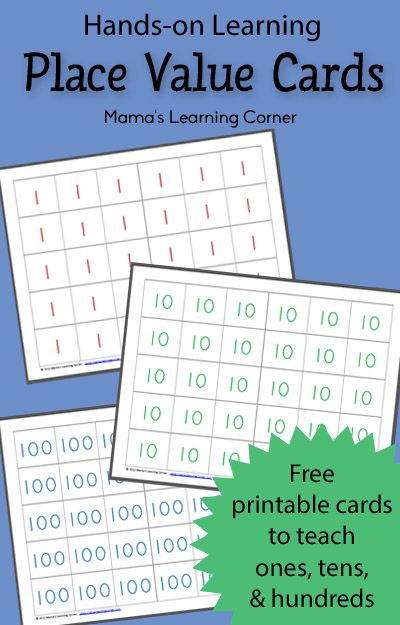 graphic regarding Place Value Printable named Totally free Printable Level Truly worth Playing cards - Mamas Finding out Corner