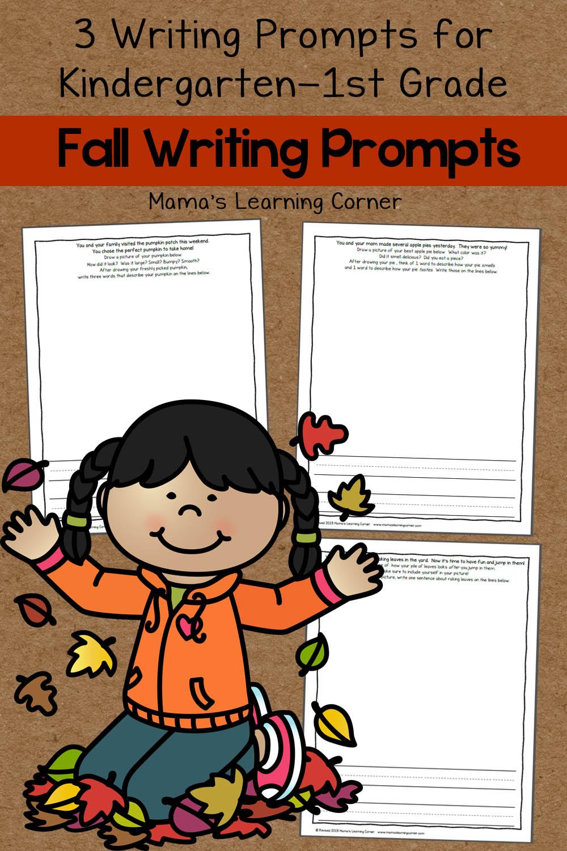 medium resolution of Set of 3 Fall Writing Prompts - Mamas Learning Corner
