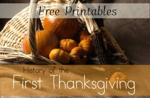 History of First Thanksgiving Worksheets and Unit Study Resources