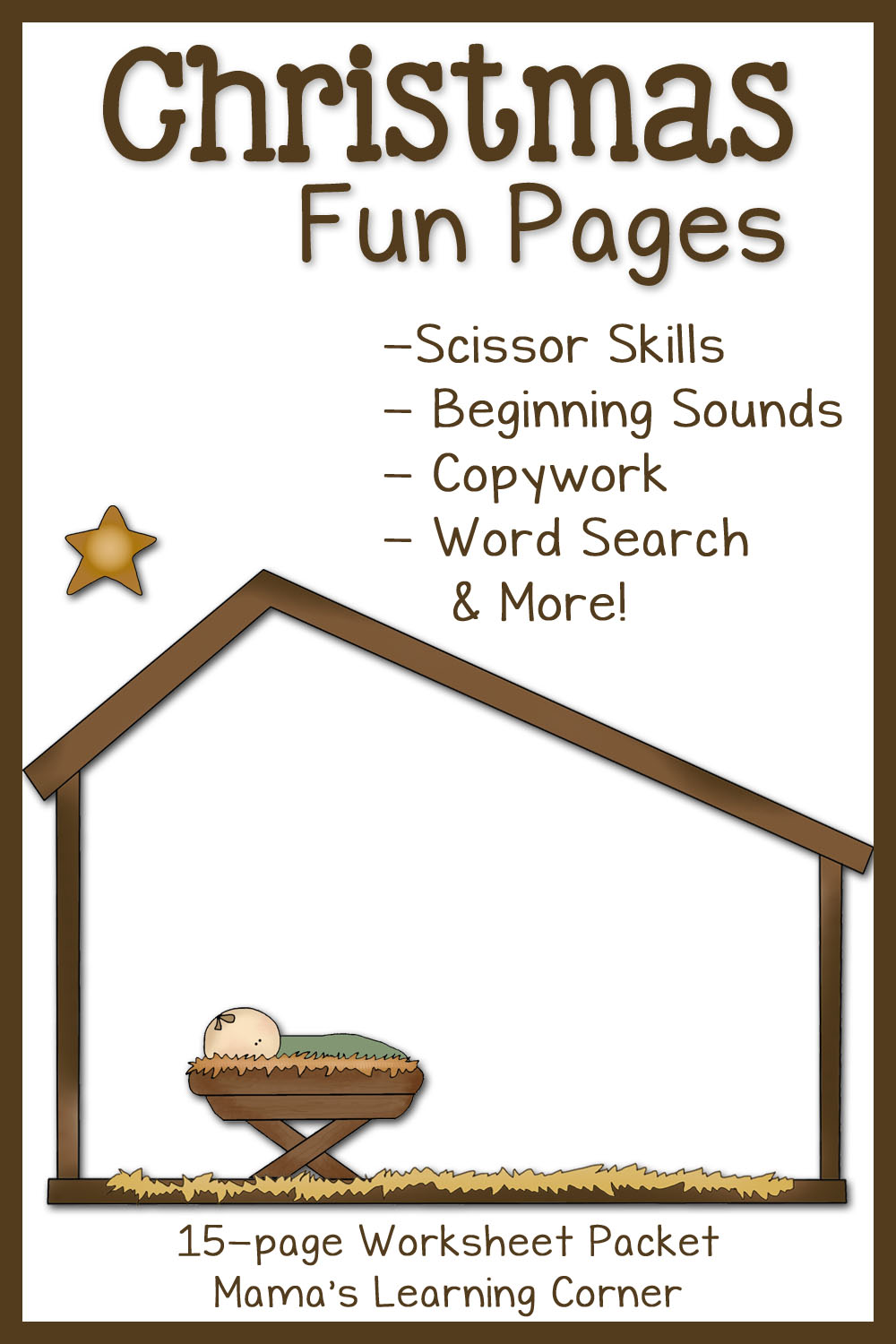 hight resolution of Christmas Fun Pages: Free 15-page Worksheet Set - Mamas Learning Corner