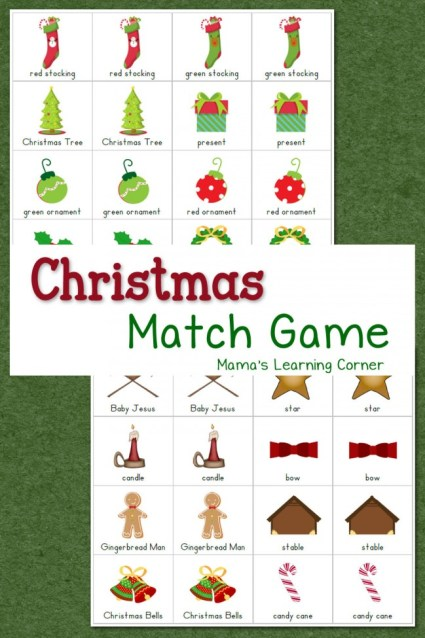 Christmas Match Game