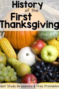 Thanksgiving History Worksheets and Resources