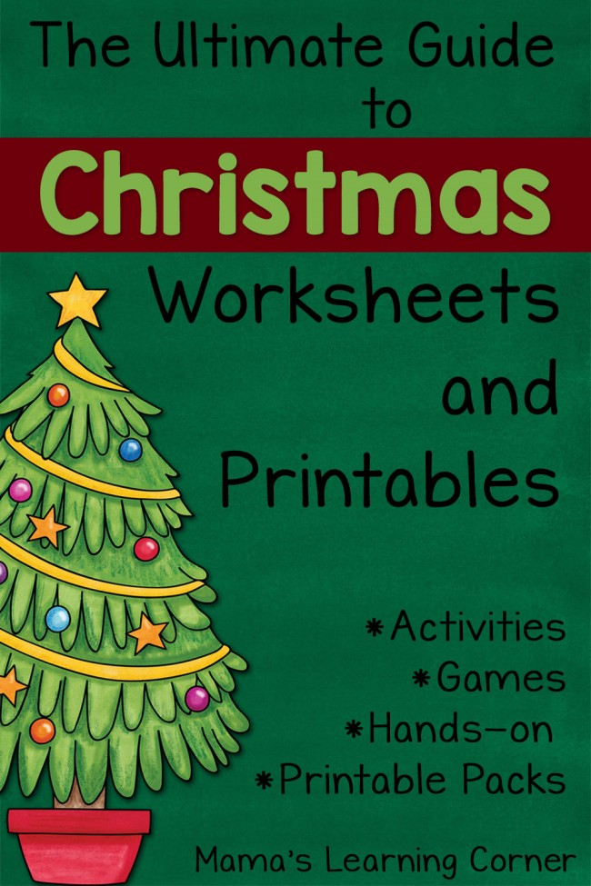 Ultimate Guide to Christmas Worksheets and Printables - TONS of links for Preschool to Upper Elementary!