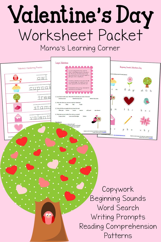 - Valentine's Day Worksheet Packet - Mamas Learning Corner