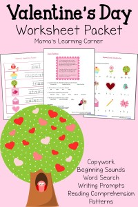 Valentine's Day Worksheet Packet
