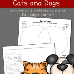 Venn Diagram Worksheet Grade 4 Nickel Chromium Phase Cats And Dogs - Mamas Learning Corner